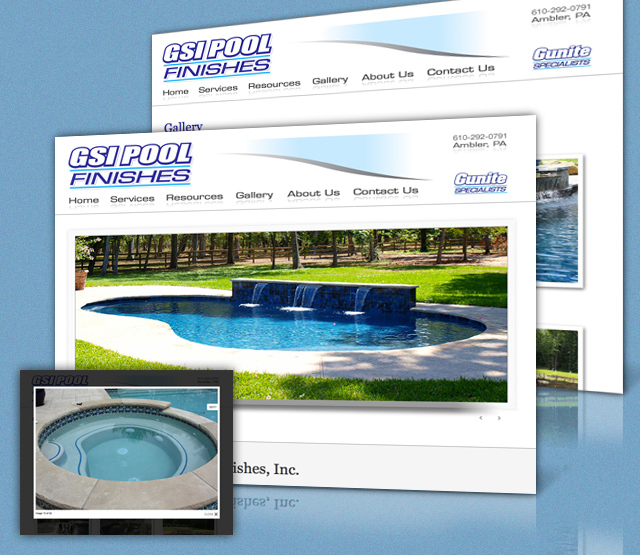 <h2>GSI Pool Finishes</h2> GSI Pool Finishes, an Ambler Pa based swimming pool construction company, requested a website design and web hosting for their Philadelphia suburbs based consulting company and online marketing efforts.                          <br><br>                         The website will feature the high quality construction services GSI Pool Finishes offers. The website will be built using Microsoft .Net technologies featuring logo and collateral development.