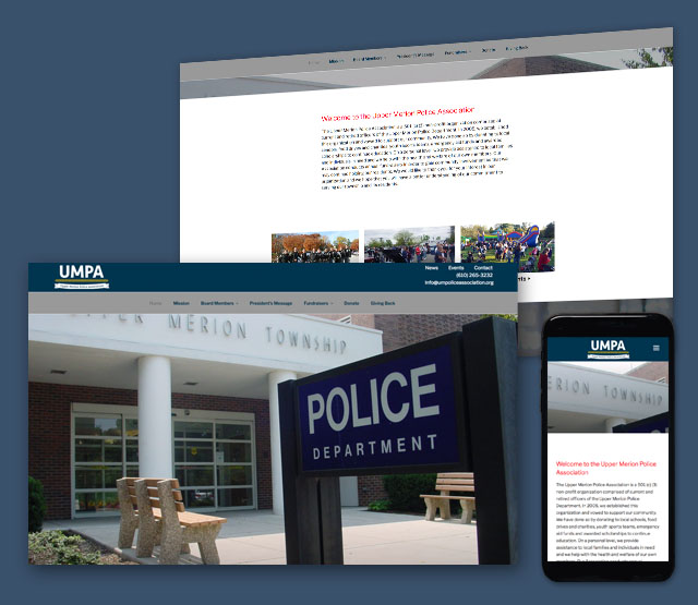 <h2>Upper Merion Police Association</h2>We needed to develop a WordPress web site design to serve the Upper Merion Police Association, in Upper Merion township that is easy to update and highlights the township and fund raising activities, and township happenings.              <br><br> The client wanted the website to be Content Management-driven (CMS), have the ability to take credit card transactions for fund raising events and be able to update major portions of the website themselves using an easy to use content management system.             <br><br>              We built a WordPress website that is easy to navigate and has integrations for credit card reservations, listing of events, fund raising activities, and photographs of the association, people, and events. Since the website was built in WordPress, it allows non-technical administration users of the website the ability to update the content themselves. The website design needed to be mobile responsive, quick loading, and also include a logo design.