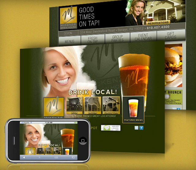 <h2>McKenzie Brew House</h2> Perfexion, Inc. was asked to develop a website to serve a microbrewery restaurant that is easily updated and highlights the fun atomosphere of the establishment.                          <br><br>                         We built both a regular and mobile website that shows the hours of operation, events, directions, and contact information. A menu is available as well as a schedule of upcoming events. The Perfexion, Inc. Content Management Systems (CMS), is used for updating key areas of the website. There is a gift card section where secure credit card transasctions can be taken.                          <br><br>                         The website features numerous areas with Flash integration to improve the user experience and a Mobile Web Design. Employees can be setup my management and documents can be categorized by roles within the restaurant with security being applied so only employees in designated roles can view selected documents.                          <br><br>                         The software development for the website is built using Microsoft Technologies including Microsoft.net and SQL Server. Perfexion, Inc. also handles the Search Engine Optimization (SEO), Pay Per Click (PPC), and Mobile technologies for the website.